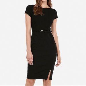 EXPRESS Belted Seamed Sheath Dress